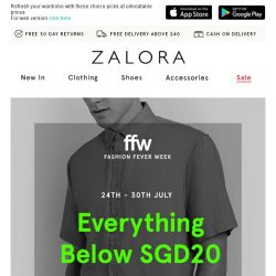 [Zalora] EVERYTHING below $20! Get more with less!