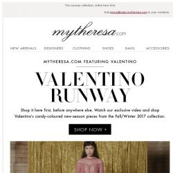 [mytheresa] Shop it here first: Valentino Fall/Winter runway collection
