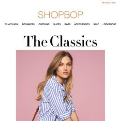 [Shopbop] The classic pieces that are always cool