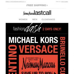 [Last Call] You qualify for up to 80% off Valentino, Michael Kors, Theory, & more for the next two days. CONGRATS!