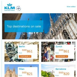 [KLM] Top destinations on Sale!