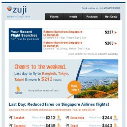 [Zuji] Last day! Fly SQ to Bangkok, Hong Kong and more fr $212.