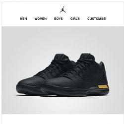 [Nike] Available Now: Jordan XXXI 'Black & Gold'