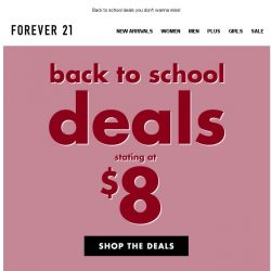 [FOREVER 21] GOING FAST: Deals from $8 dollars