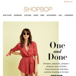 [Shopbop] The simplest summer outfit