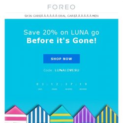 [Foreo] Don't Let this LUNA Go Sale Get Away from You!