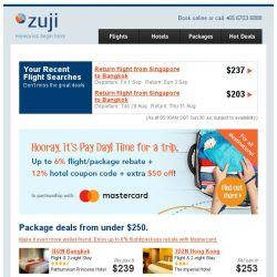 [Zuji] Pay Day Happiness: 3D2N Bangkok, Bali fr $239 (all-in)!