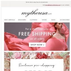 [mytheresa] Exclusive pre-shopping: Gucci + free shipping