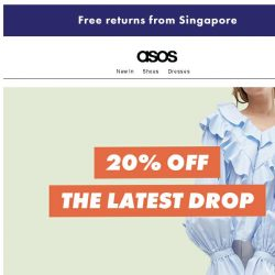 [ASOS] 20% off new pieces for right now