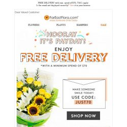 [FarEastFlora] Hi Valued Customer, don't miss out on this promo code expiring soon!