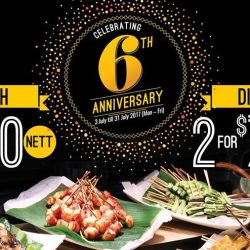 Buffet Town: 6th Anniversary Buffet Promotion - From $50 for 2 Pax!