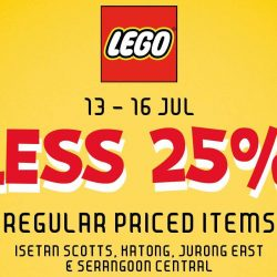 Isetan: Enjoy 25% OFF Regular Priced Items from LEGO + Additional 10% OFF for Isetan Members!