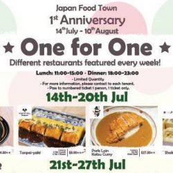Japan Food Town: 1st Anniversary Promotion with 1-for-1 Deals