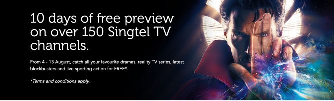 Singtel: Celebrate Their 10th Anniversary with 10 Days of FREE