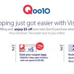 Qoo10: Enjoy $5 OFF Your Next Qoo10 Purchase With Visa Checkout