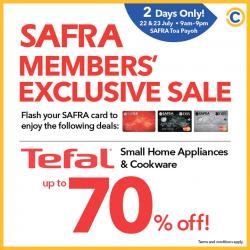 [Hair Plus Korean Salon] SAFRA Toa Payoh is having a massive Tefal sale this weekend (22 & 23 July) only for SAFRA members!
