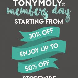 [Tony Moly Singapore] Yes we've heard you, and we will be extending Tonymoly Member's Day till 9th July 2017, Sunday!