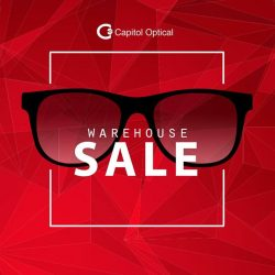 [Capitol Optical] SALE up to 70% off sunglasses & frames at Capitol Optical warehouse sale.