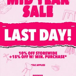 [Grafunkt] It's the last day of our mid year sale, drop by to Millenia Walk to enjoy up to 23%