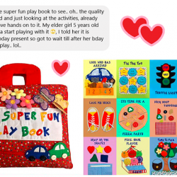 [ResearchBooks Asia] My Super Fun Play Book - Meticulously Stitched by Hand with Love, Care n Effort!