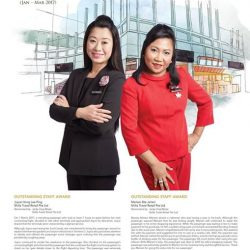 [COSMETICS & PERFUMES BY SHILLA] Beautiful and inspiring – Changi Extra Mile Service Award is given to airport staff that showed exceptional work and dedication; and