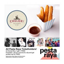 [CHULOP!] Pesta Raya is happening on the 20 - 21 July and if you are a ticket holder to any of the