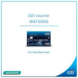 [Citibank ATM] Stock up on your essentials, beauty and health products with Citi Cash Back Card at any Watsons store and get