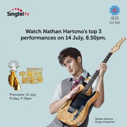 [Singtel] Don't miss the special telecast of Nathan's top 3 performances based on your Facebook votes.