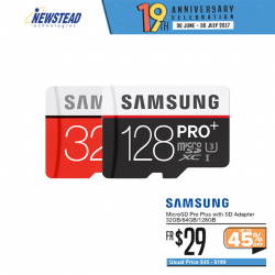 [Newstead Technologies] Expand your gadget storage with Samsung Pro Micro SD Card(32GB), now with Anniversary Promotion from $19!