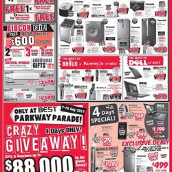 [Best Denki] Check out the deals for Panasonic, Dell, Braun & Kuvings products and get FREE Onsen Pass and/or Thai Massage ˆ!