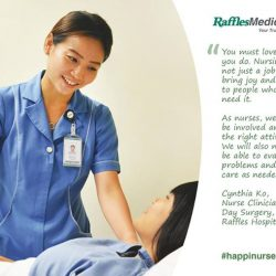 [Raffles Japanese Clinic] Despite being a nurse since 2009, Cynthia is still unsure why she likes nursing but she loves what she does.