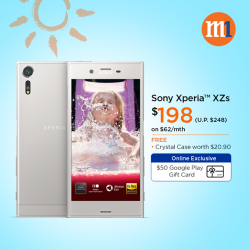 [M1] Enjoy $50 off Sony Xperia™ XZs when you sign up or re-contract on our 2-year mobile plans!