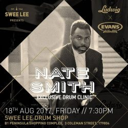 [Swee Lee Music] Come down for an exclusive Masterclass with renowned drummer, Nate Smith at our new Swee Lee Drum Shop.