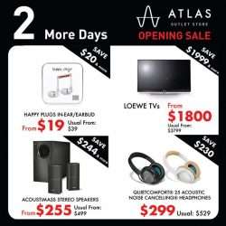 [BOSE] 2 more days to our Atlas Outlet Store opening sale!
