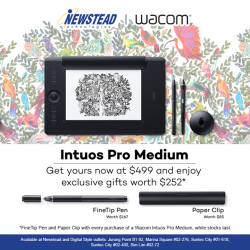 [Newstead Technologies] Receive exclusive gifts when you purchase a Wacom Intuos Pro Medium!