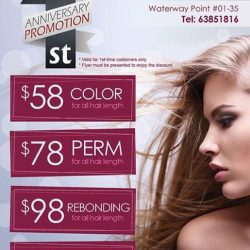 [Waterway Point] Give your locks a fresh makeover at Cresendo Hairdressing (East Wing, 01-35)!