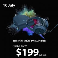 [BOSE] Today's GSS daily deal: SoundTrue Around-Ear Headphones at only S$199.