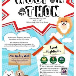 [Pet Lovers Centre Singapore] This Saturday, the 8th of July, we'll see you for the Woof-A-Thon from 3pm to 7pm!