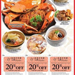[Thai Village Restaurant] Dear diners, raise your hands if you want a premium dining experience and feast at a 20% Discount this month!