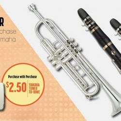 [YAMAHA MUSIC SQUARE] Don't miss out on our purchase with purchase special offer on Yamaha Brass and Orchestra products!