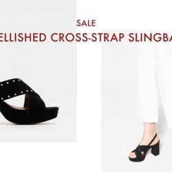 [Charles & Keith] CHARLESKEITH_ONLINE SALE: EMBELLISHED CROSS-STRAP SLINGBACKS Shop Now: http://bit.