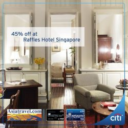 [Citibank ATM] Book your next staycation at Raffles Hotel Singapore and enjoy 45% off, exclusively for Citi Credit Cardmembers.