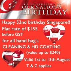 [ColorWash] In celebration of our Nation's Birthday, ColorWash is offering Cleaning & HD Coating services on all handbags 👜 at the flat