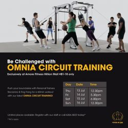 [Amore Fitness] If solo workout is not your style, try our newly launched Omnia Circuit Training!