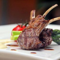 [Bistro 1855] 3 course set lunch only at $18++ Bistro 1855Lamp Chops so tender and succulent!