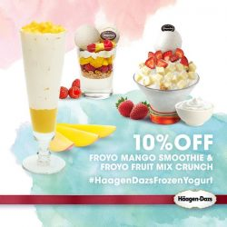 [Haagen-Dazs] To celebrate our new Plain Frozen Yogurt, we're sharing our Froyo Crunch and Froyo Smoothies at 10% off!