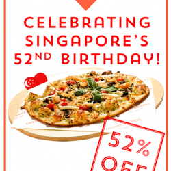 [Knicker+Bockers Pizza] Celebrate Singapore's 52nd birthday with us!