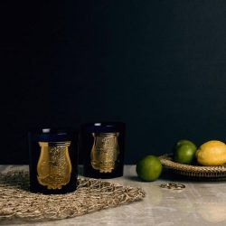 [Escentials] Hand-blown by Italian artisans, Cire Trudon's new candles arrive in chic navy and gold glass vessels and make