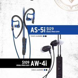 [Nübox] Premium sports earphones from Klipsch now are up to $70 off for AS-5i and AW-4i models!