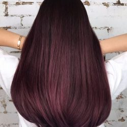 [Salon Vim] Luxurious deep burgundy using ammonia free and odourless colours to cater to your comfort.